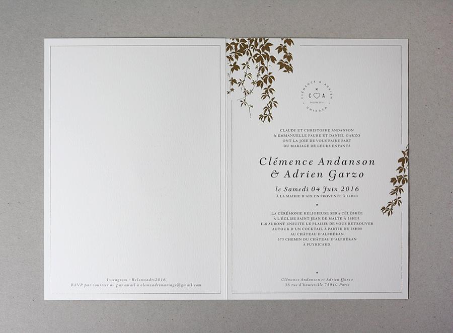 Wedding invitations – Claire Leina, Surface pattern designer